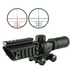 Omega Mfg 1.5-5x32 CQB Scope Red/Green Illumination, Range Finder
