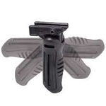 Omega Mfg Vertical Grip, Polymer, Stubby, 4 Pos., Picatinny