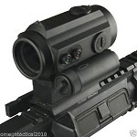 Omega Manufacturing Extreme Duty 1x30 Dot Sight Red Green Illum with Top Iron Sight  (Takes Cr123 Battery)
