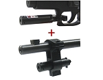 Red Laser Sight with Universal Barrel & Trigger Guard Mount Combo Set/Black