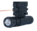 Red Laser Sight with Weaver Mount & LED Flashlight with Quick Release Combo