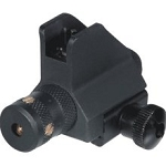 Low Profile AR Front Sight with Red Laser