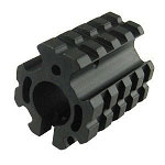 Quad Rail Gas Block Barrel Mount Picatinny