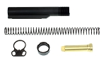 Davidson Defense Enhanced Mil-Spec Buffer Tube Kit With Ultra Heavy Duty Nitride Longer Castle Nut &  Ambidextrous  Sling Adapter End-Plate