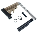 Trinity Force L-E Mil-Spec Buffer Tube & Stock Complete Kit With Recoil Pad ( Fde / Tan Color)