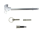 United Defense Ind.  AR-15 USA Made Stainless Steel / Silver CFT Upgrade Kit  (Charging Handle / Forward Assist / Take Down Pins)