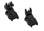 VISM Pro Series Spring Loaded  Flip-Up Front & Rear Sight Set  Aluminum Body Steel Match & Cqb Aperture (High quality)