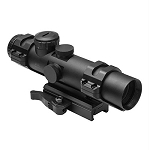 NcSTAR 4 x 32mm XRS Scope with Modular Upper Scope Rings and Convertible Base Mount, Mil-Dot Reticle