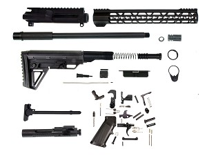 "Aero Precision AR-15 Complete Rifle Kit W/ 16"" 300 Blackout Hbar Pistol Length Gas Barrel & 12"" Trapezoid Keymod Handguard Includes Everything - Except Lower"