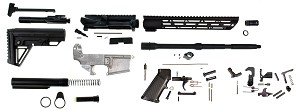 "AR-15 Complete Deluxe 16"" Rifle Kit with 80% Lower & Bolt Carrier Group (Comes With Everything)"