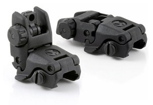 Magpul Gen 1 MBUS Front and Rear Flip Sights Set, Black