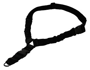 Mega Sling One Point Bungee Rifle Sling/Steel Clip/Black High Quality