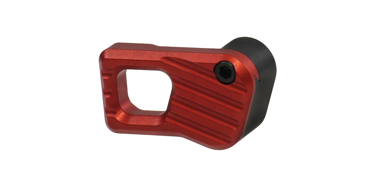 Battle Arms Development Enhanced Modular Magazine Release - LARGE - Anodized RED - Billet 7075-T6 Aluminum