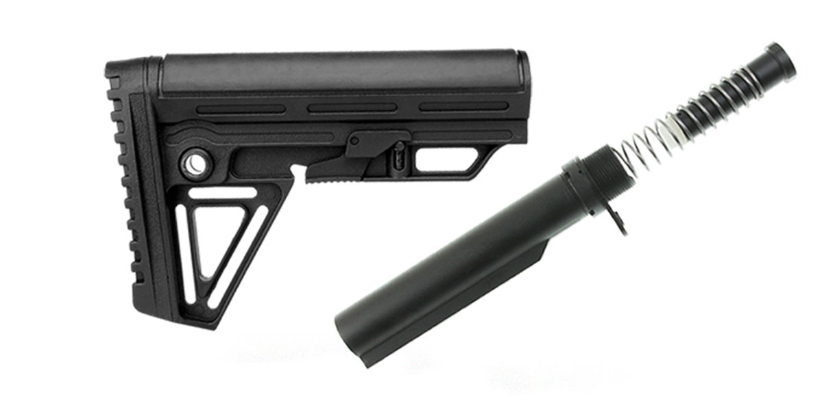 Omega Deals Trinity Force Alpha Combat Mil-Spec Carbine AR-15 Complete Stock Kit w/Buffer Tube Kit