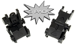 5 PACK - Trinity Force High Density Polymer Flip-Up Iron Sight Set