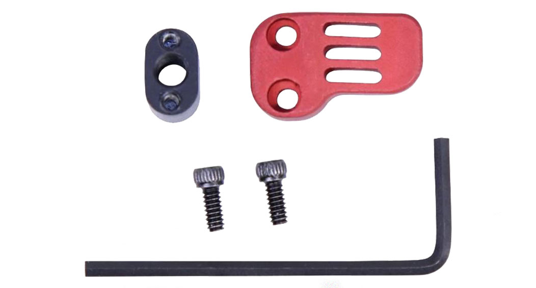 Guntec AR-15/LR-308 Extended Mag Catch Release - Red