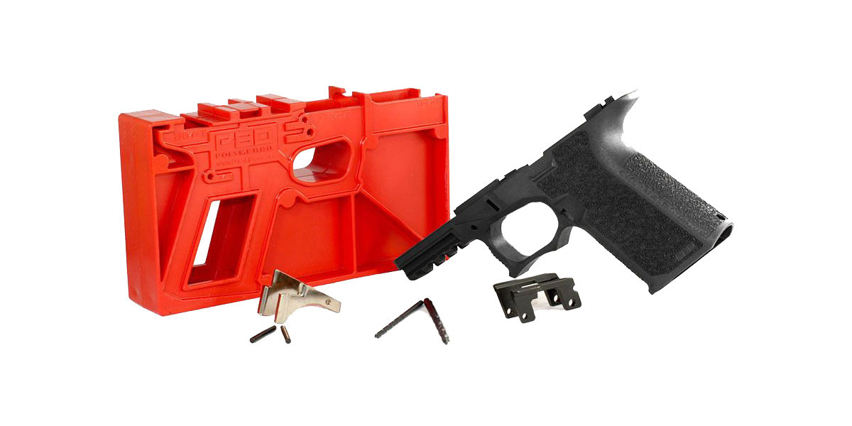 Polymer 80 PF940C 80% Compact Pistol Frame Kit - Black - Fits All Gen 3 Glock 19 & 23 (Newest Gen II Better Aggressive Texture)