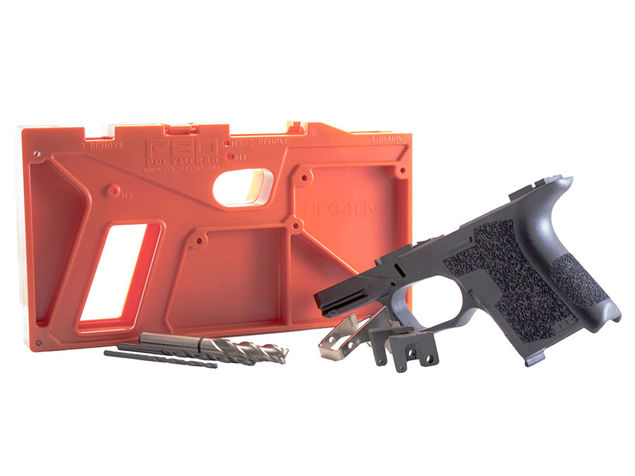 Polymer80 Sub Compact 80% Pistol Frame Kit PF940SC For Glock 26 & 27 Compatible Slides - Black