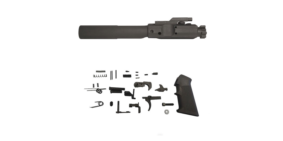 Omega Deals DPMS Genuine Complete LR-308 Bolt Carrier Group - Fits Most LR-308 AR Platform Guns + KAK .308 LR-308 Mil-Spec Quality Lower Parts Kit