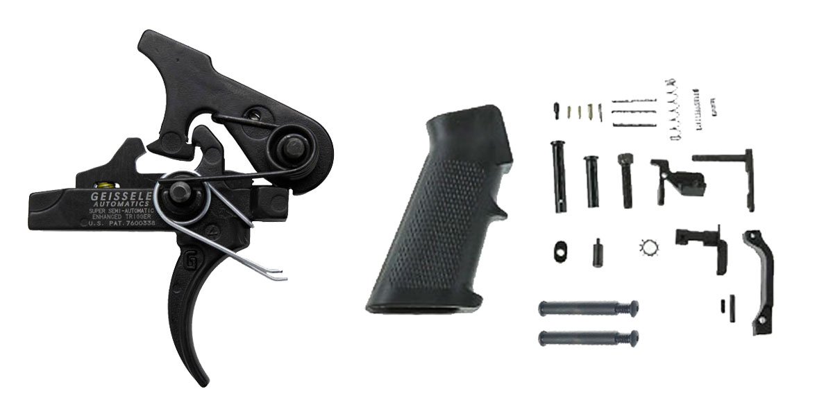 Omega Deals LR-308 Trigger Upgrade Kit Including Geissele Automatics Single-Stage Precision Dynamic Flat Bow Trigger +