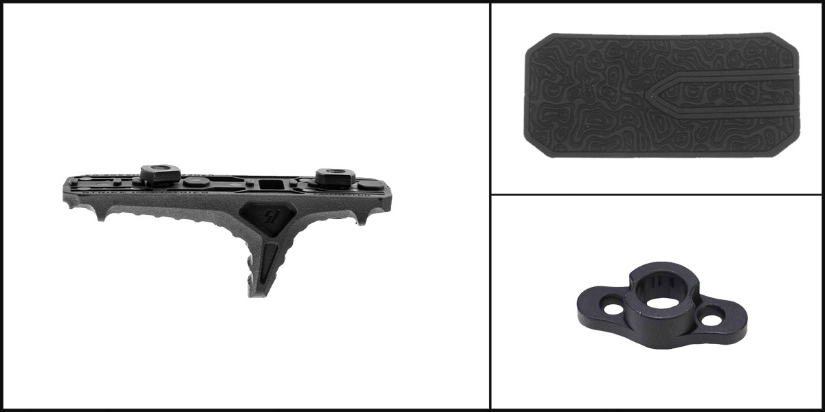 Omega Deals AYB Kits Featuring: Strike Industries LINK Anchor Polymer Hand Stop + Timber Creek Outdoors M-LOK QD Mounting Point + Black Shockwave Adhesive Cheek Pad
