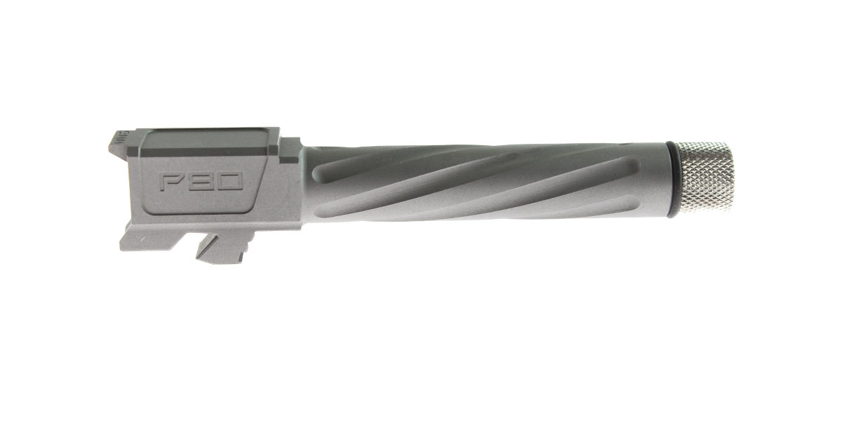 Polymer80 Barrel - G19 Compatible Threaded & Fluted Stainless Steel