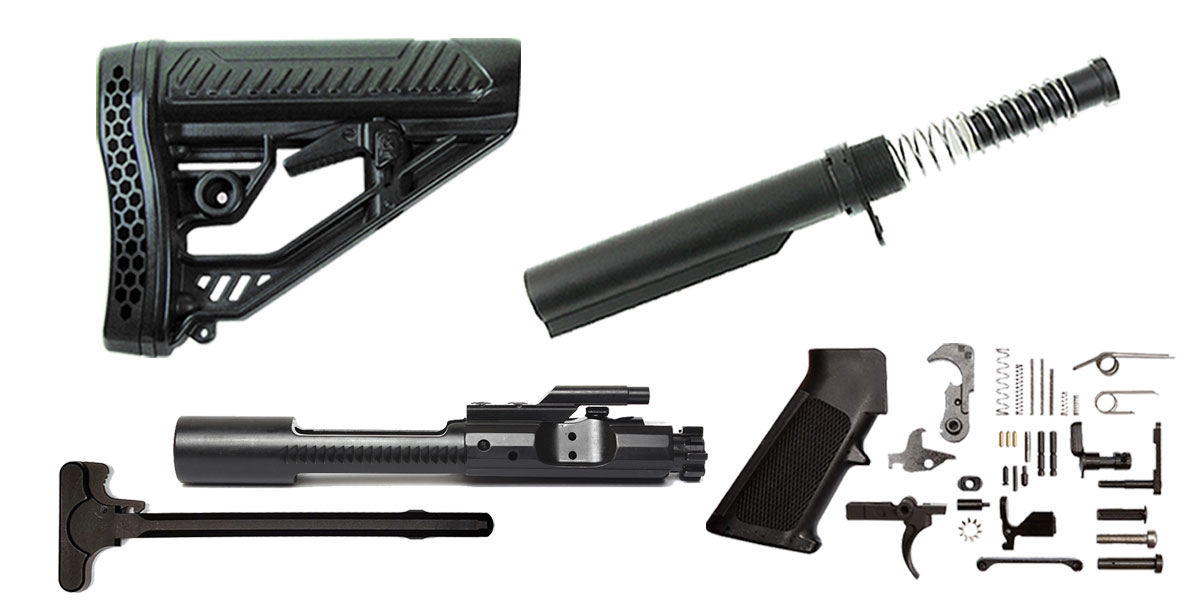 Omega Deals Adaptive Tactical AR-15 Finish Your Rifle Build Kit - 5.56/.223/.300/.350