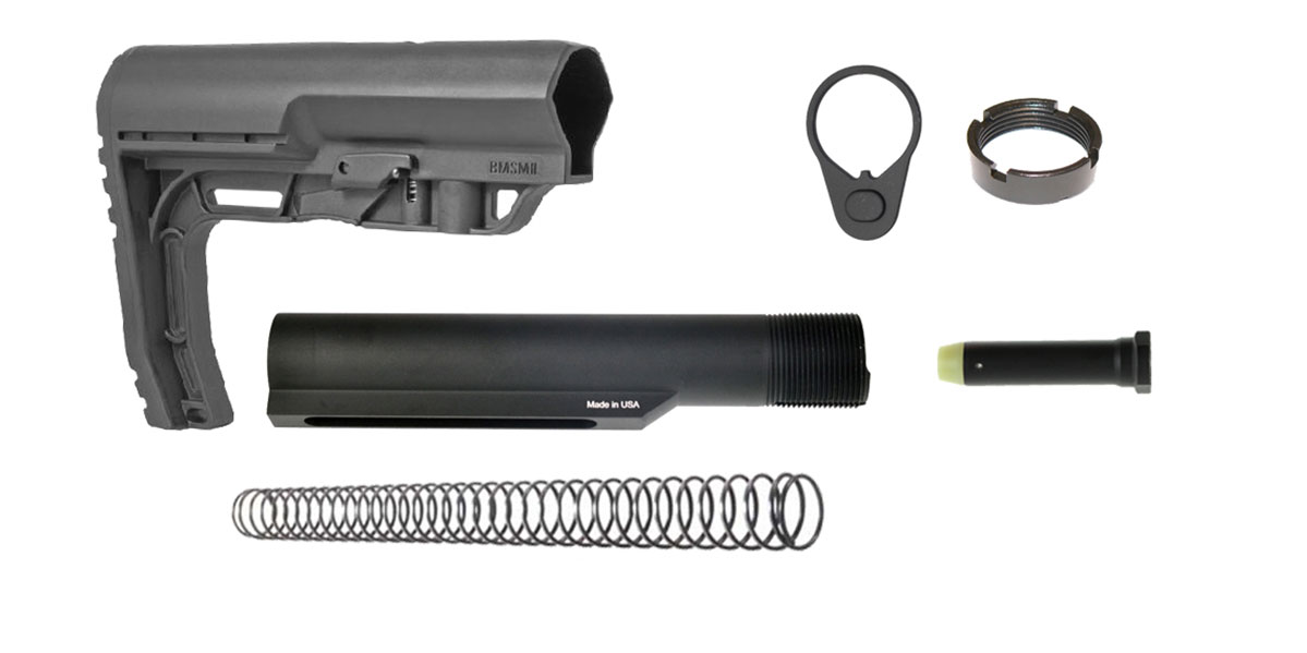 Delta Deals Ar-15 Mission First Tactical Minimalist Stock W/ Buffer Tube Kit