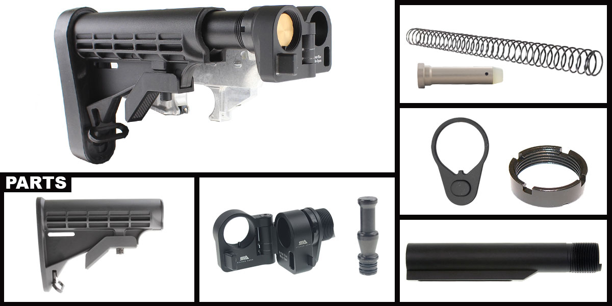 Omega Deals AR-15 Sylvan Arms Folding Stock Adapter + MMC Armory LE Collapsible Stock