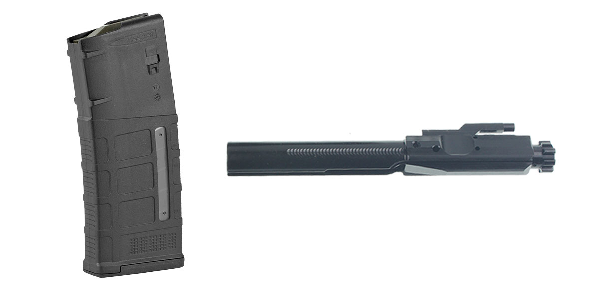 Omega Deals Recoil Technologies Ion Nitride LR-.308/AR-.308 Bolt Carrier Group (.308 Win and 6.5 Creedmoor) + Magpul Industries, Magazine, M3, 308 Win/7.62x51 NATO, 25Rd, Fits DPMS/SR25/LaRue OBR- Black Finish