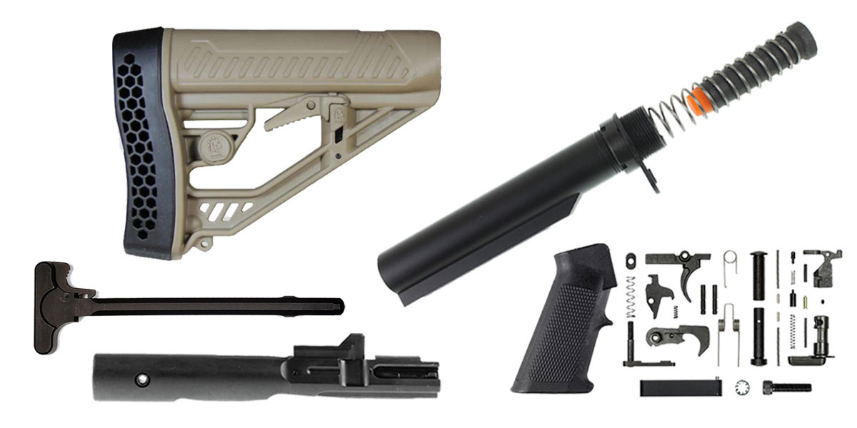 Omega Deals Adaptive Tactical AR-15 Stock Finish Your Rifle Build Kit - 9mm