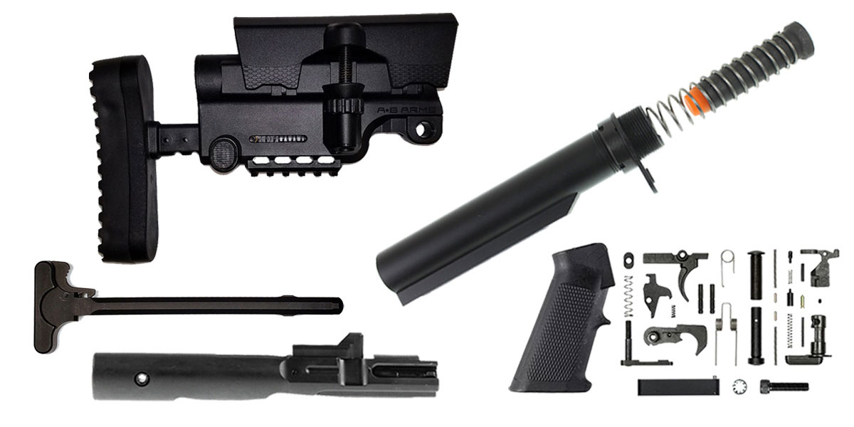 Omega Deals A*B Arms AR-15 Sniper Stock Finish Your Rifle Build Kit - 9mm