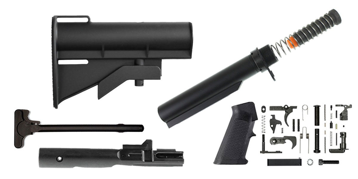 Omega Deals United Defense AR-15 CAR-15 Finish Your Rifle Build Kit - 9mm