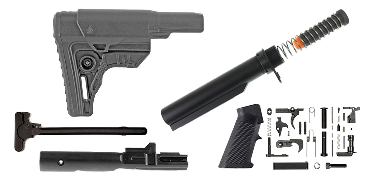 Omega Deals Leapers AR-15 UTG Pro Finish Your Rifle Build Kit - 9mm
