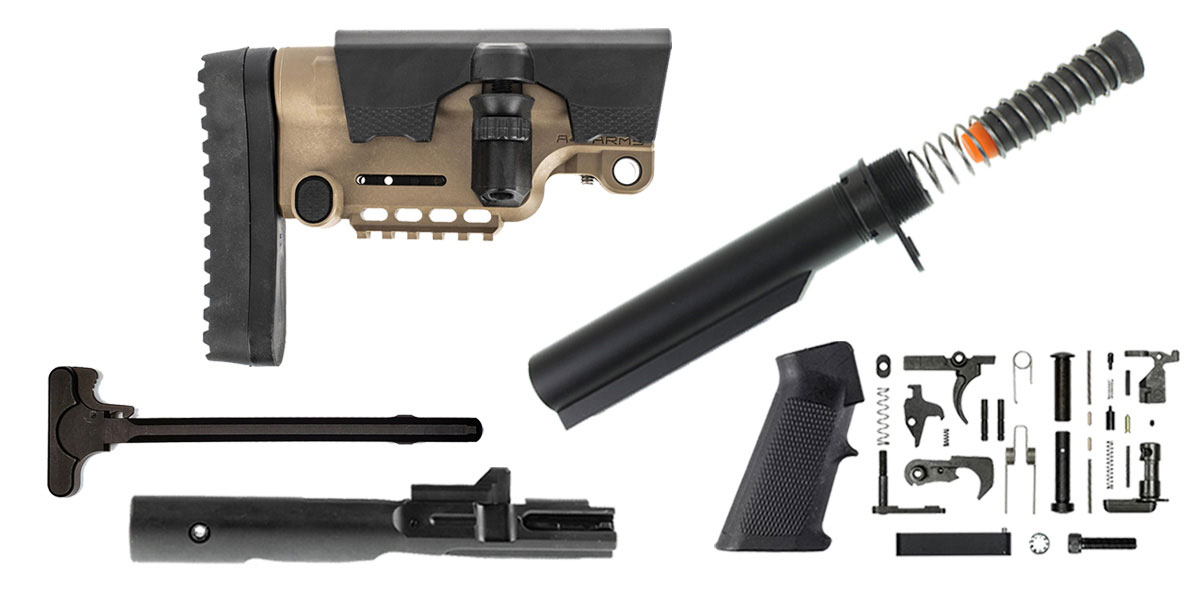 Omega Deals A*B Amrs AR-15 UTG Urban Sniper Stock Finish Your Rifle Build Kit - 9mm