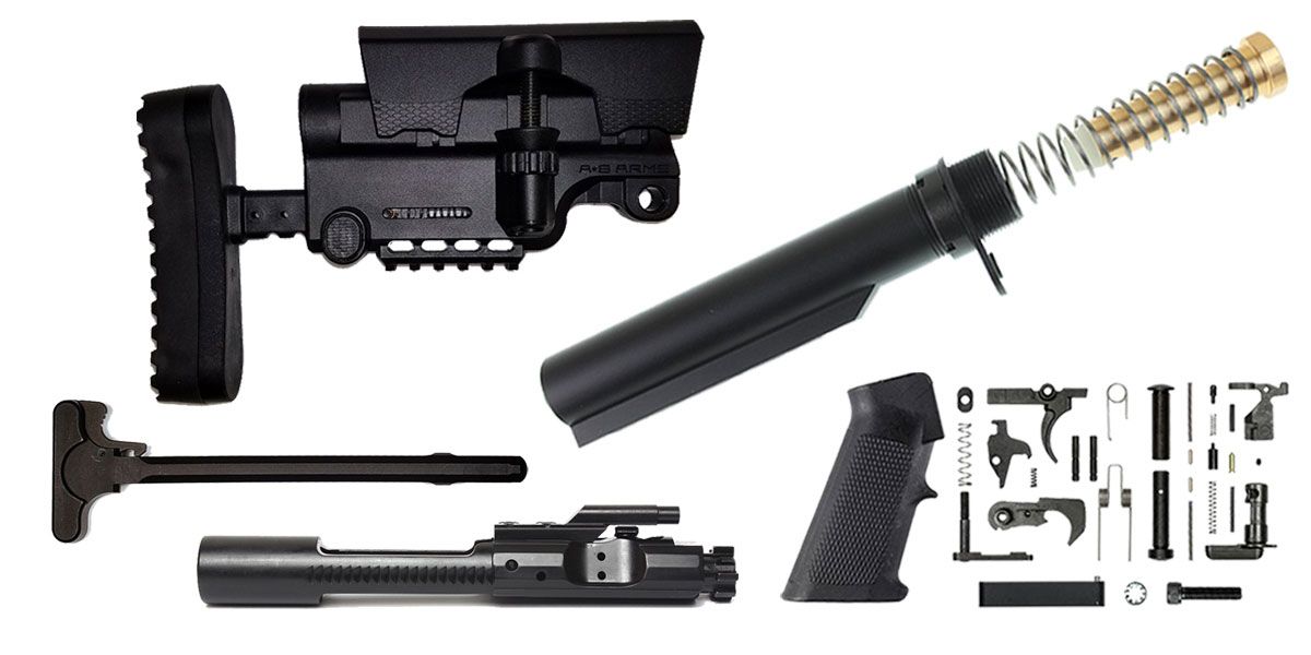 Omega Deals A*B Arms AR-15 Sniper Stock Finish Your Rifle Build Kit - 5.56/.223/.300/.350