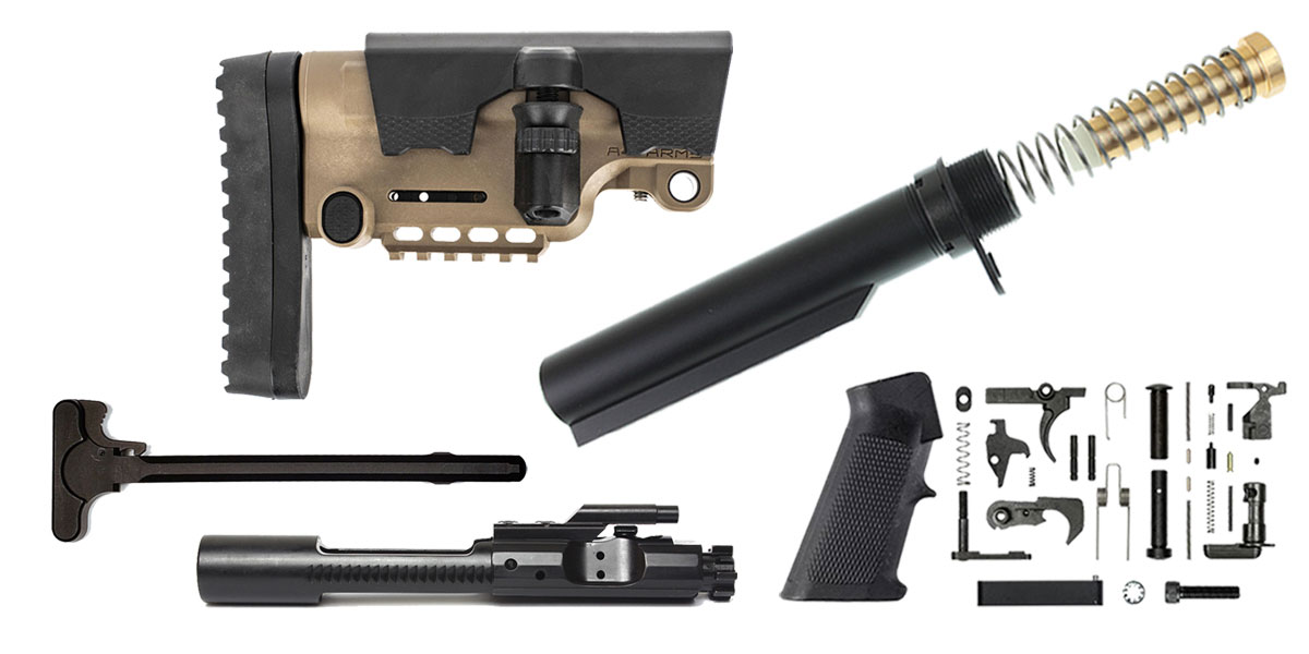 Omega Deals A*B Arms AR-15 Urban Sniper Stock Finish Your Rifle Build Kit - 5.56/.223/.300/.350