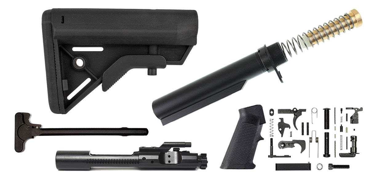 Omega Deals Davidson Defense AR-15 SOPMOD Stock Finish Your Rifle Build Kit - 5.56/.223/.300/.350