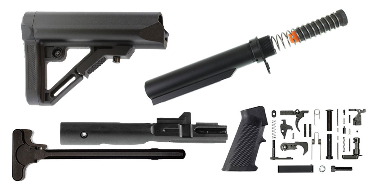 Omega Deals Leapers UTG Pro Finish Your Rifle Build Kit - 9mm