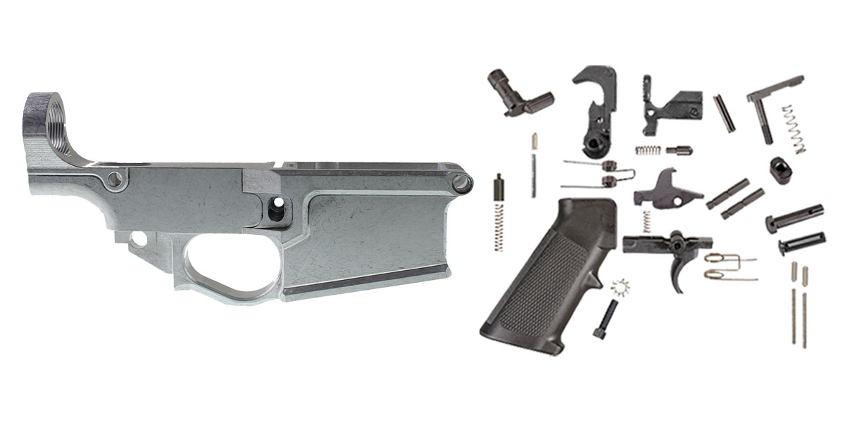 Omega Deals Davidson Defense LR-308 80% Billet Lower Receiver + Lakota Ops LR-308 Lower Parts Kit