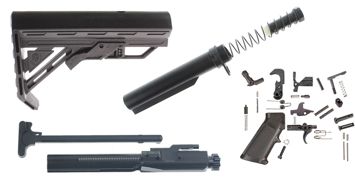 Omega Deals LR-308 Davidson Defense Genesis Stock - Finish Your Rifle Build Kit - .308 WIN/6.5 Creedmoor/.243 WIN