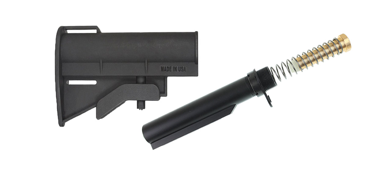 Omega Deals JE Machine CQB Stock + Omega Mfg. Mil-Spec Buffer Tube Kit