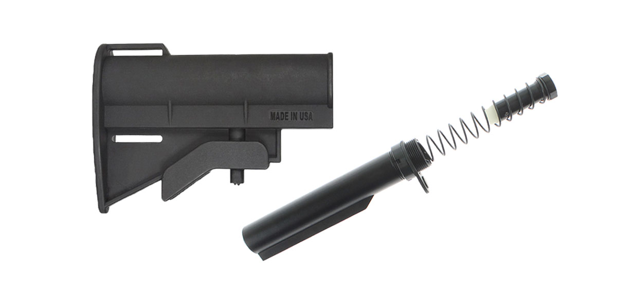 Omega Deals JE Machine CQB Stock + LR-308 Omega Mfg. Mil-Spec Buffer Tube Kit