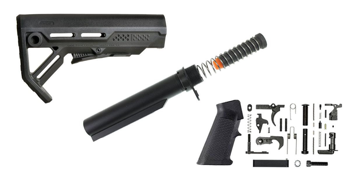 Omega Deals Strike Industries Viper Stock Finish Your Lower Rifle Kit - 9mm Buffer