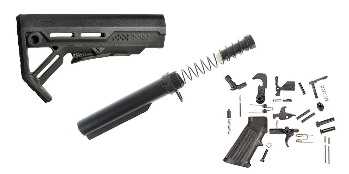 Omega Deals Strike Industries Viper Stock Finish Your Lower Rifle Kit - LR-308 Buffer