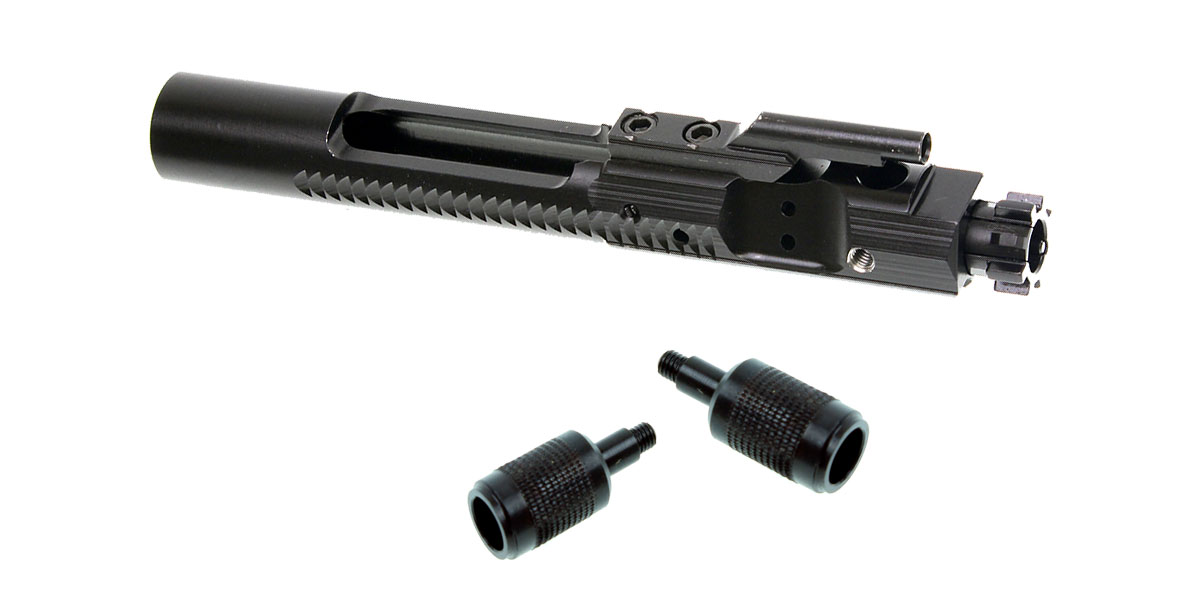 Omega Deals Side Charging (Threaded) Bolt Carrier - Nitride + 2x Knurled Side Charging Handle
