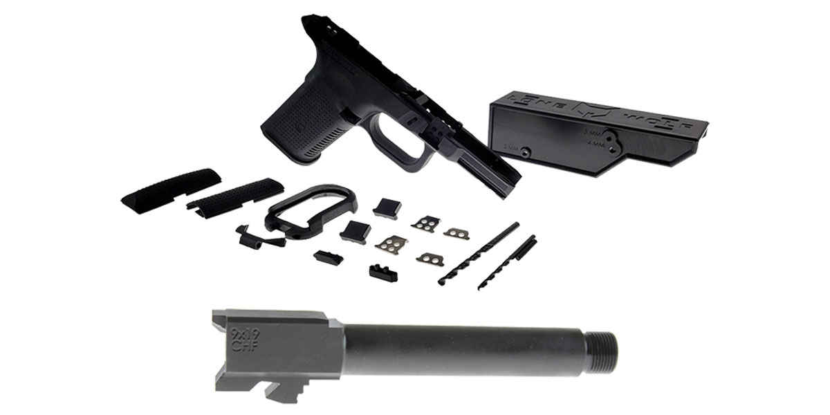 Omega Deals DIY Pistol Kits Featuring: Lone Wolf Frame G19/G23 + Cold Hammer Forged Threaded 9mm Barrel