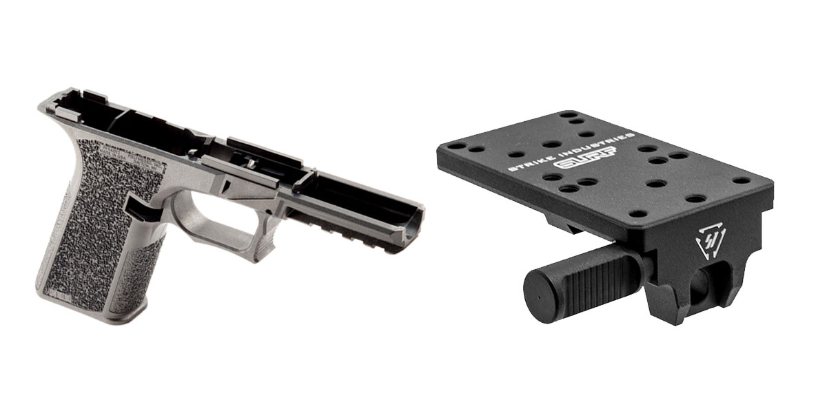 Omega Deals DIY Pistol Kits Featuring: Polymer 80 G17 Frame + Strike Industries Scorpion Universal Reflex Mount for GLOCK