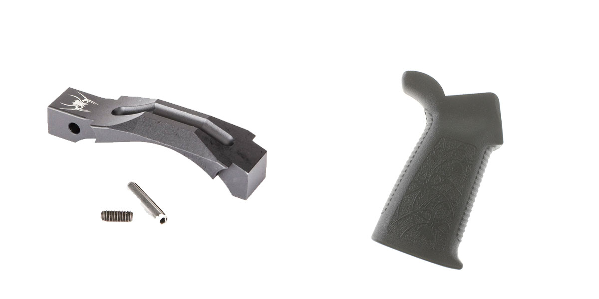 Omega Deals Enhanced Trigger Guard + Pistol Grip: Featuring Spikes and Spikes Tactical
