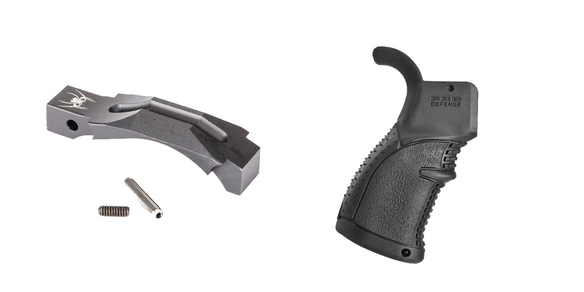 Omega Deals Enhanced Trigger Guard + Pistol Grip: Featuring Spikes and FAB Defense